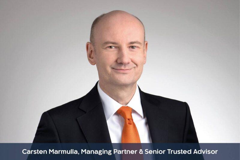 Profilbild mit Unterzeile von Carsten Marmulla, Managing Partner & Senior Trusted Advisor
