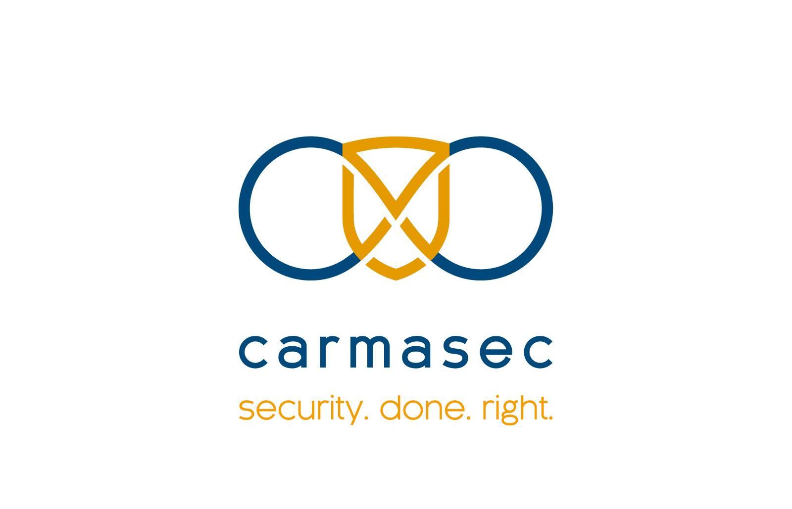 carmasec Logo Name Claim weißer Hintergrund