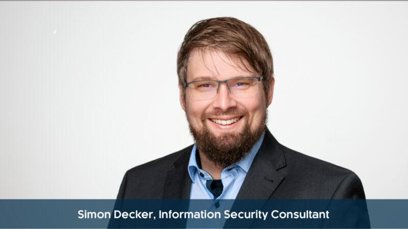Simon Decker, Information Security Consultant