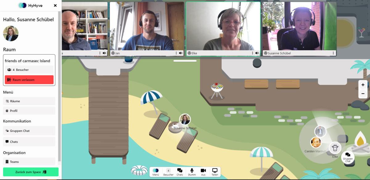 Virtueller friends of carmasec Stammtisch